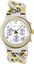 Hot Sale Michael Kors Twist Chain Chronograph White Dial Ladies Watch MK3199