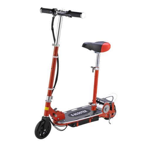 IHOMEDIRECT Kids Electric E Scooters 120W battery ride on kids Electric E Scooter (Red)