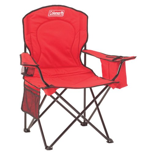 Coleman Broadband Quad Chair With Cooler, Red front-863567