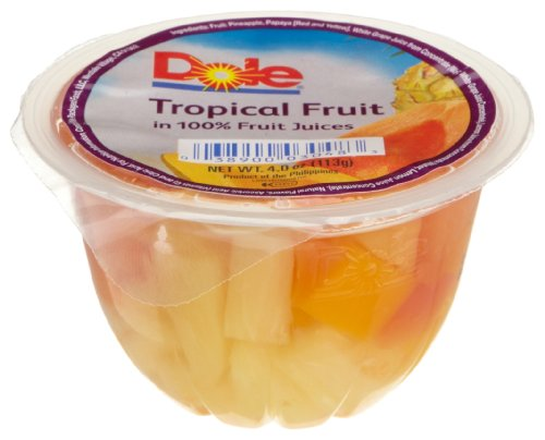 Dole Tropical Fruit in 100 Juice 4 Ounce Cups Pack of 36