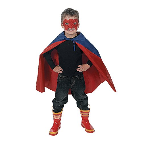 OTC - Child's Super Hero Cape and Mask Set, Made of Polyester