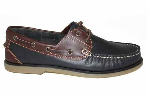 Dek Mens Navy Brown Boat Shoes Leather Deck Shoe Size 7 (G316NVB)