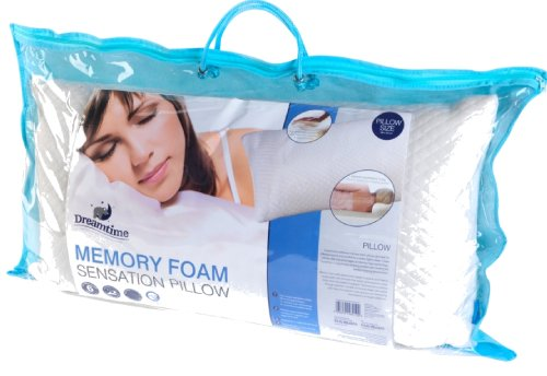 Luxury Memory Foam Sensation Visco Bed Pillow Orthopaedic Neck Support One Single Pillow