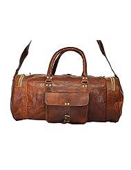 Real Goat Leather Handmade Travel Luggage Vintage Overnight Genuine Duffel Bag - B00N2QPHU2