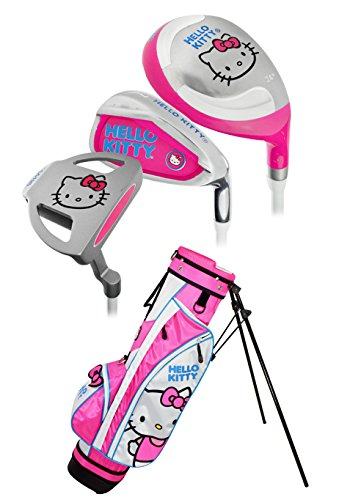 Hello-Kitty-Sports-Girls-Junior-Golf-Set-3-5-Years-Graphite-Pink