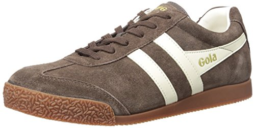 Gola Men's Harrier Fashion Sneaker, Dark Brown/Ecru, 9 UK/10 M US