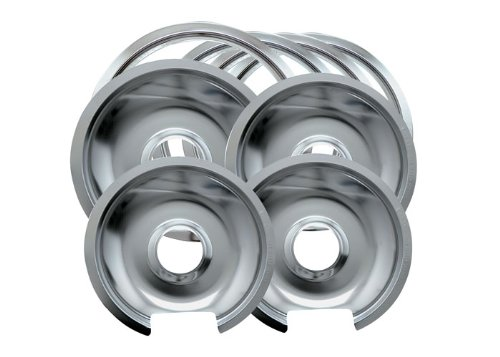 Range Kleen 1056RGE8Z GE Hinged Drip Pans and Trim Rings Containing 3 Units 105A, R6GE and 1 Unit 106A,R8GE, Chrome (Range Kleen compare prices)