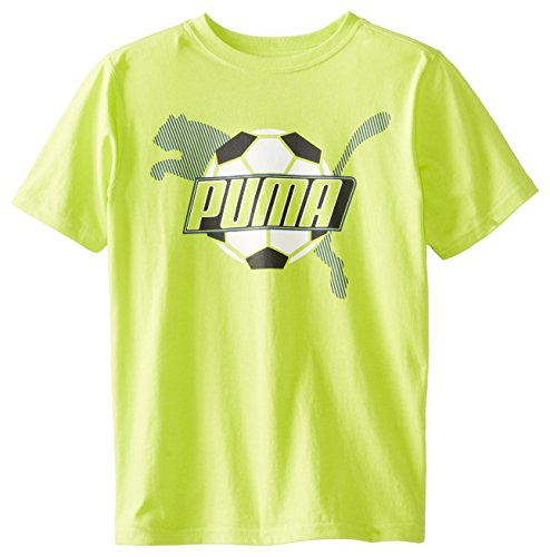 Puma Big Boys' Goal T-Shirt, Lime Punch, Medium back-495008