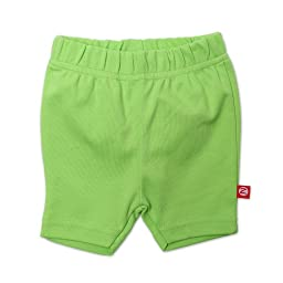 Zutano Baby-girls Infant Primary Solid Bike Shorts, Lime, 6 Months