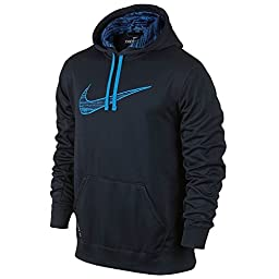 Nike Men\'s Therma-Fit KO Digi Rush Pullover Training Hoodie-Midnight Navy-Medium