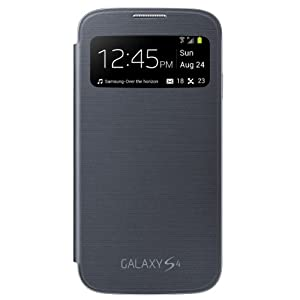 Samsung Galaxy S4 S-View Flip Cover Folio Case (Black)