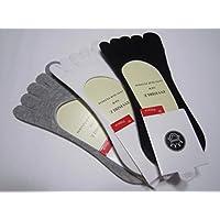 5本指ソックス デッキシューズ スニーカー パンプスイン カバーソックス 3色セット 黒 白 グレー 靴から見えない 革靴 オシャレ