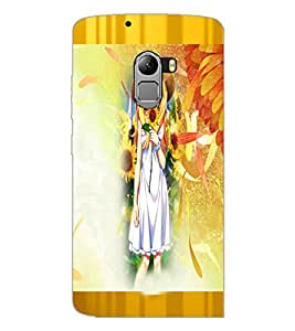 PrintDhaba Cute Animated Girl D-3583 Back Case Cover for LENOVO K4 NOTE A7010a48 (Multi-Coloured)