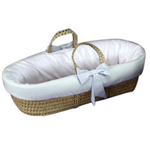Imagen de Baby Doll Bedding guinga Recorte Moisés Basket, Blue