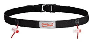 FuelBelt Reflective Race Number Belt, Black