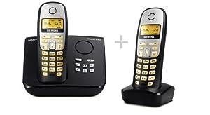 Siemens Gigaset A265 Duo, Schnurloses DECT-Telefon mit zusätzlichem Anrufbeantworter