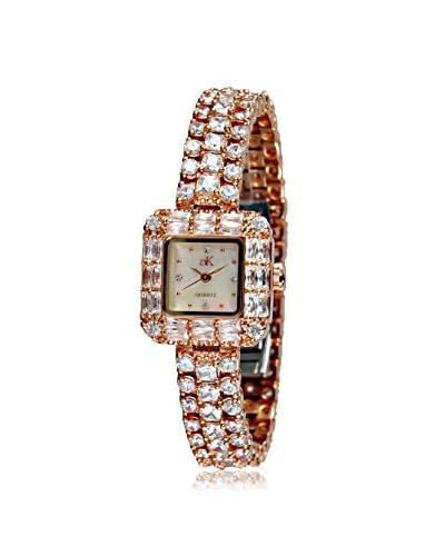 Adee Kaye Women's AK9-71LRG/C Glamour Collection Crystal & Brass Watch
