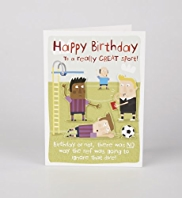 Football Dive Birthday Card