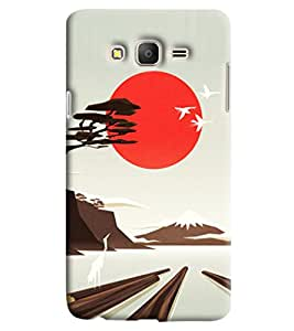 Blue Throat Scenery Printed Designer Back Cover/Case For Samsung Galaxy On 5