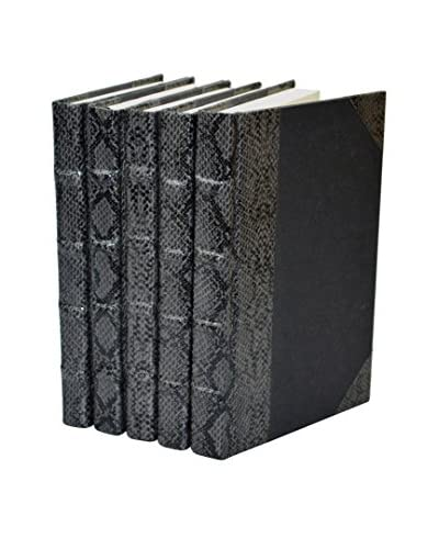 Set of 5 Exotic Collection Books, Python/Gunmetal