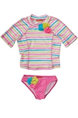 Kate Mack Girl's 2-6X Garden Stripe Surf Shirt & Bottom in Multi