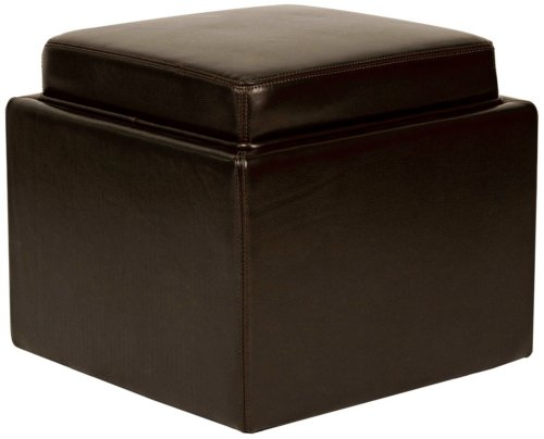 cheap butler mocha bycast leather storage ottoman canttobeer