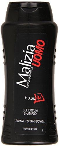 Malizia - Gel Doccia Shampoo, Uomo, Profumo d'Intesa - 250 ml