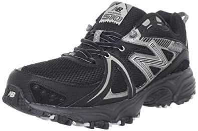 New Balance Men's MT510 Running Shoes,Black/Grey,12.5 2E US