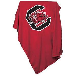 South Carolina Gamecocks NCAA Sweatshirt Blanket Throw by Logo Chair