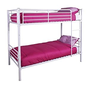 Florida Metal Bunk Bed 2 x 3ft Singles White Powder Coated Frame