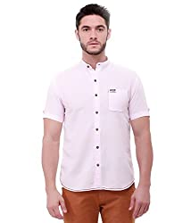 Jogur Pink Color Casual Shirt for Men