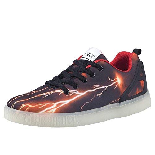 Oasap-Zapatillas-Zapatos-Estampado-Led-Usb-Recargable-Top-Alto-para-Hombres