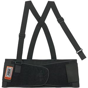 ProFlex 1650 Economy Elastic Back Support Belt, Black, Medium