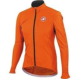 Castelli Velo Jacket - Men\'s Orange Fluo, L