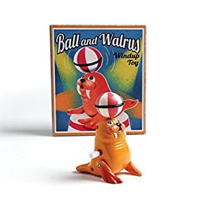 Wind Up Walrus and Ball Toy