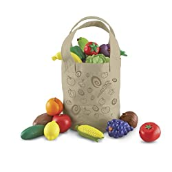 [Best price] Puzzles - Learning Resources New Sprouts Fresh Picked Fruit and Veggie Tote - toys-games