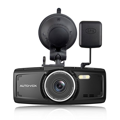 Dash Cam With GPS AUTO-VOX D1 Full HD 1080P Dashboard Camera 2.7-Inch Car Recorder DVR with Night Vision G-Sensor Loop Recording Parking Mode Free 32G Mirco Card (Car Camera Recorder Battery 1080 compare prices)