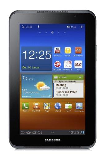 Samsung Galaxy Tab P6201 7.0 Plus N Tablet (17,8 cm (7 Zoll) PLS Touchscreen, 1,2GHz Dual Core Prozessor, 1GB RAM, 16GB Speicher, Android 3.2, UMTS) grau