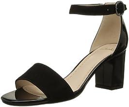 Clarks Susie Deva, Chaussures de ville femme - Noir (Black Combi Sde), 40 EU (6.5 UK)