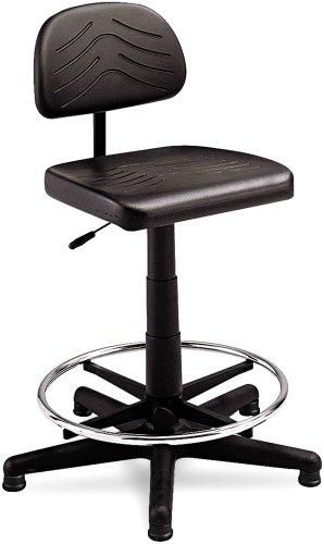 Safco 5110 Taskmaster Economahogany Workbench Chair, Black front-794941