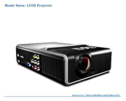 HDGrahamGannon Portable Home Theater Video Projector with Built in DVD Player. INCLUDES FREE 6'HDMI CABLE FREE! Supports 20