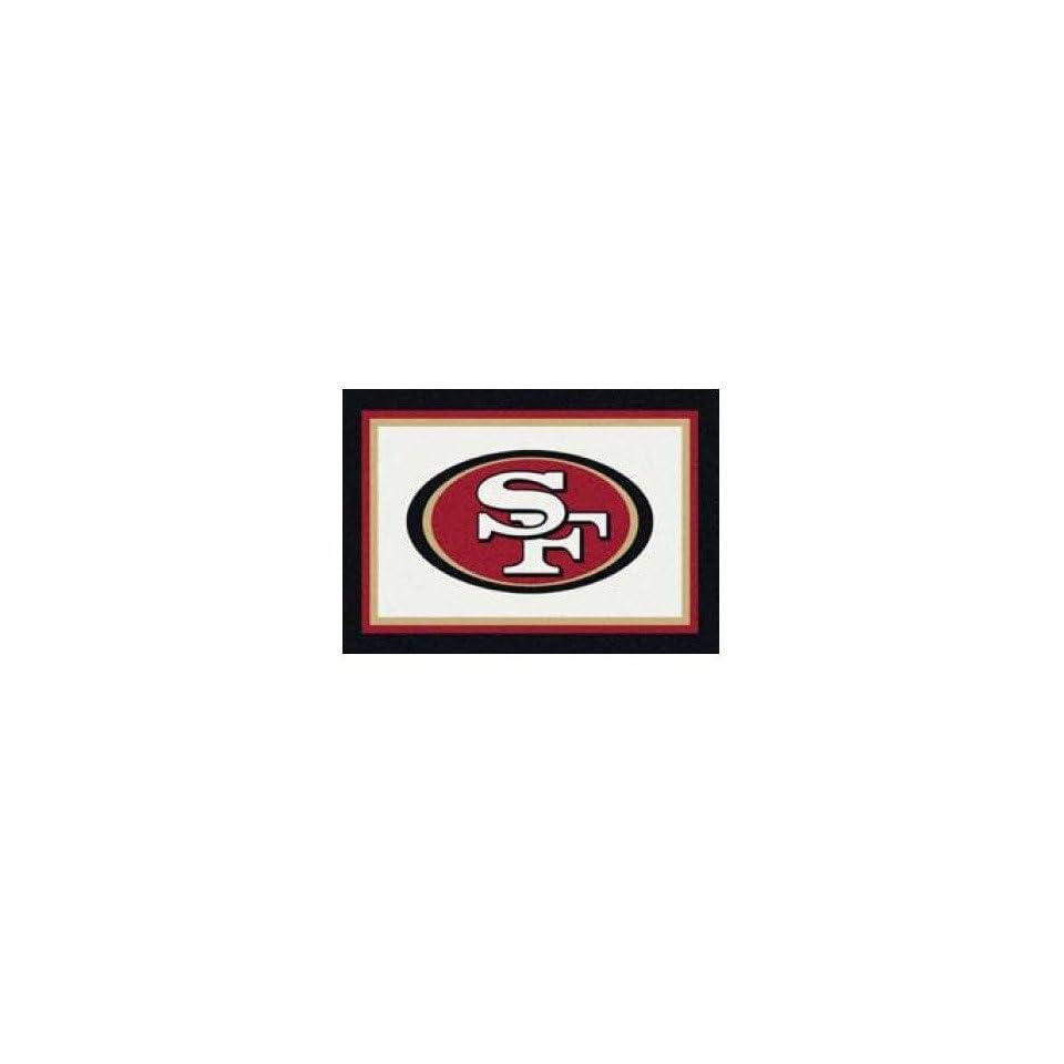 NFL Team Repeat San Francisco 49ers Football Rug Size 54 x 78