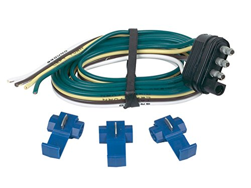 Hopkins 48125 4 Wire Flat Trailer End Connector with Splice Connectors (96 Dodge Ram Trailer Plug compare prices)