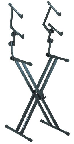 Quik Lok QL/623 Double Braced Triple Tier Keyboard Stand - Black