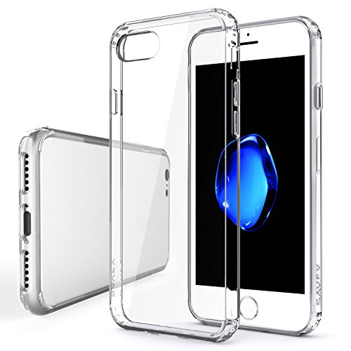 iPhone 7 Case, iPhone 7 Scratch Clear Case, SAVFY Apple iPhone 7 Hybrid Bumper Cover Shock-Absorption Soft Bumper and Anti-Scratch Clear Hard Back for iPhone 7 4.7 inch