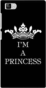 DailyObjects I Am A Princess Black Case For Xiaomi Mi3