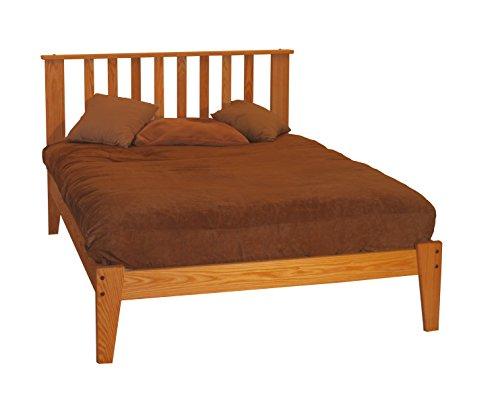 sale twin size solid oak mission platform bed frame hardwood eco friendly clean. Black Bedroom Furniture Sets. Home Design Ideas