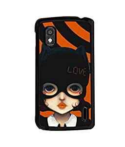 printtech Cute Girl Love Mask Back Case Cover for LG Nexus 4, LG Mako :: LG Nexus 4 E960