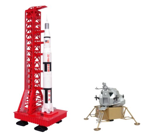 Aoshima Apollo Saturn Rocket And Lunar Module Model Kit (Saturn 5 Rocket Model compare prices)