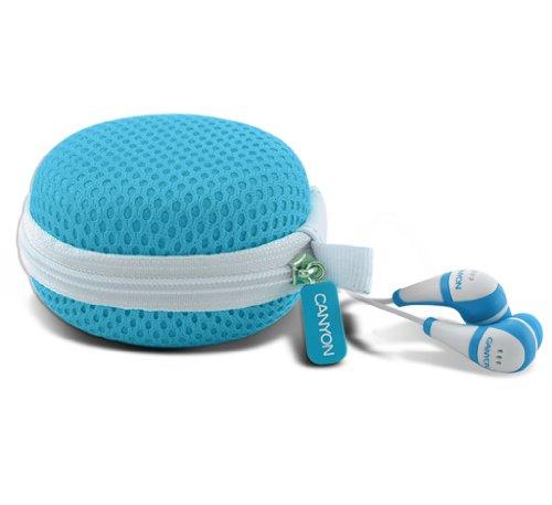 Canyon CNR-EP5 Kopfhörer 3,5 mm inkl. Silikoneinsätzen und Tasche blau